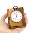 Old silver clock — Stock Photo