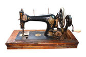 Old black sewing machine — Stock Photo