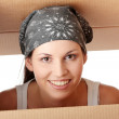 Woman with box — Stock Photo #3135855