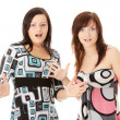 Two young womans surprised — Stock Photo #3138457