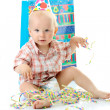 Stock Photo: Child boy birthday