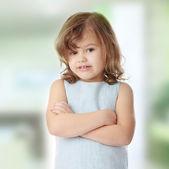 Porträtt av en 5-årig flicka — Stockfoto