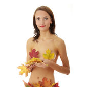 Young nude caucasian woman — Stock Photo
