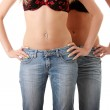 Close up of a two beautiful woman's waist — Stock Photo