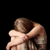 Young woman depression — Stock Photo