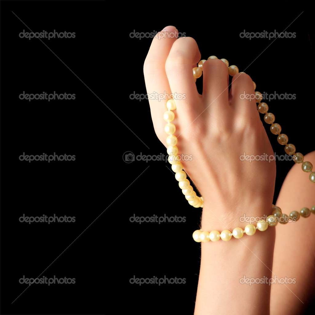 The dreaming woman with a pearl necklace  — Stock Photo #3142240