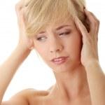 Woman with headache — Stock Photo #3663964