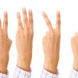 Set of gesturing hands — Stock Photo #3738263