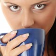 Businesswoman holding coffee cup — Stock Photo