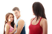 Unfaithful boyfriend — Stock Photo