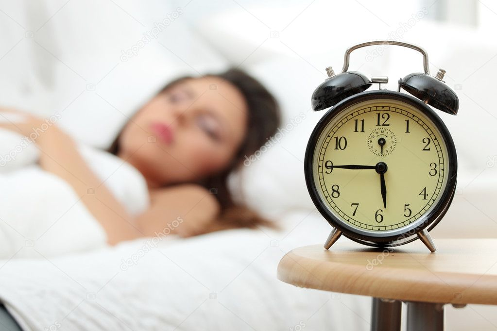 Beautiful Caucasian woman waking up in the morning.  — Stock Photo #3738471