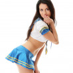 Sexy woman in marine uniform — Stock Photo #3858674