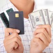 Credit card and cash — Stock Photo #3861571