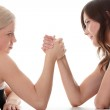 Two women hands fight — Stock Photo