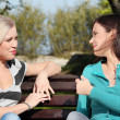 Two woman at park — Stock Photo