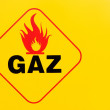 Stock Photo: Sign flammable and gas
