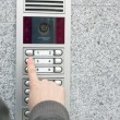 Video intercom in the entry of a house — Stock Photo #3581713