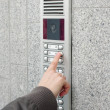 Video intercom in the entry of a house — Stock Photo #3581722