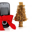 Gold business, buy the  mobile phone for Christmas — Stock Photo