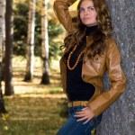 bella giovane donna — Foto Stock