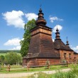 Wooden Orthodox Church in Skwirtne, Poland - Stock Photo
