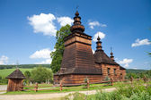 Wooden Orthodox Church in Skwirtne, Poland — Foto Stock