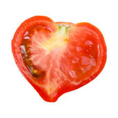 Tomato in the shape of a heart — Stock Photo