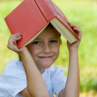 Happy boy with book — Stockfoto #3722240