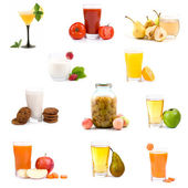 Big collection of various healthy drinks — Stock Photo
