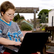 Boy Using a Computer — Stock Photo