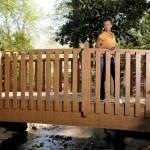Black Woman on a Bridge — Stock Photo #2896358