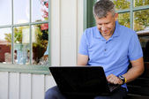 Man Using Computer — Stock Photo