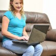 Woman Using Laptop — Stock Photo #3178134