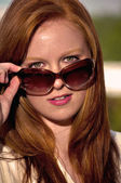 Mulher óculos de sol — Foto Stock
