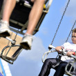 Boy on Swing Ride — Stock fotografie
