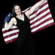 Woman Wrapped in a Flag — Stock Photo #3264262