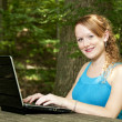 Woman Using Laptop — Stock Photo #3302792