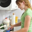 doing the dishes — Stock Photo