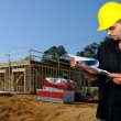 Construction Worker with Clipboard — Stock Photo