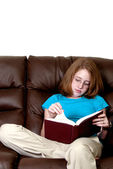 Teenager Reading a Book — Stock Photo