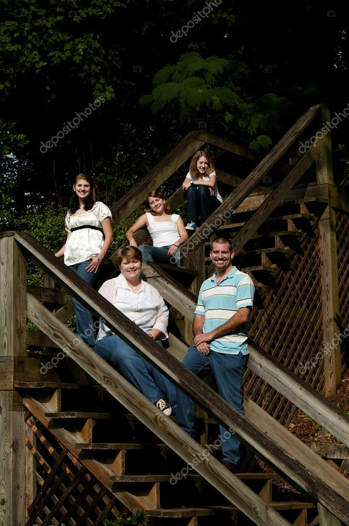 A family portrait in an outdoor park — Stock Photo #3768127