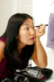 Woman Applying Makeup — Stock Photo