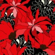 Floral seamless pattern with red flowers — Stock Vector #2744655
