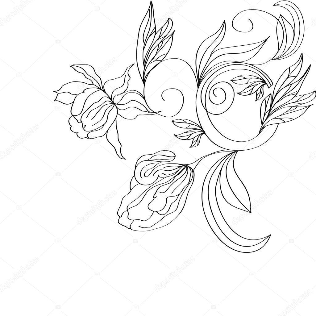 Цветы картинки стилизация 3