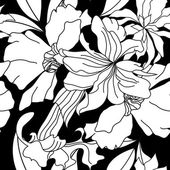 Bezešvé pattern s bílými kvítky — Stock vektor
