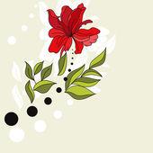 元の背景の花を持つ — ストックベクタ