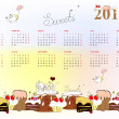 Template for calendar 2011 — Stock Vector #2813684
