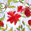 Floral seamless pattern with red flowers — Stock Vector #2813701