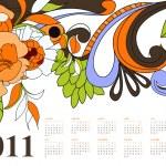 Vintage calendar for 2011 — Stock Vector