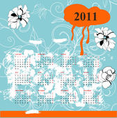 Calendar with flowers for 2011 — Stock Vector